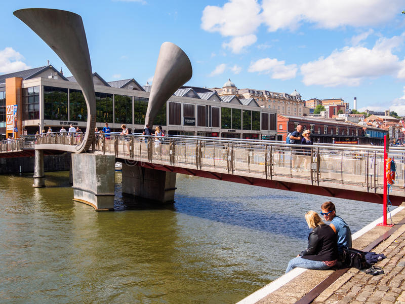 Peros Bridge in Bristol, England royalty free stock photo