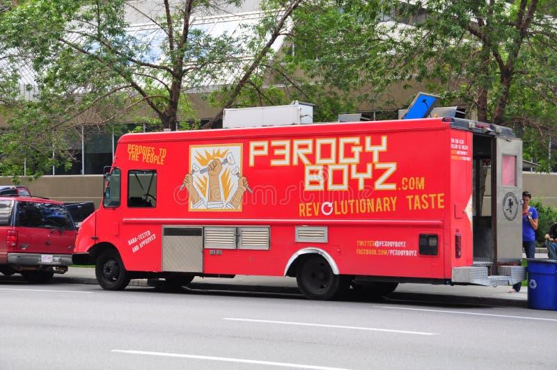 Perogy Boyz matlastbil royaltyfria bilder