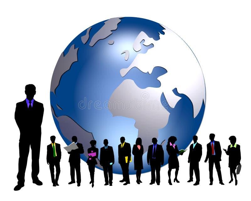 Perople do negócio - global ilustração stock