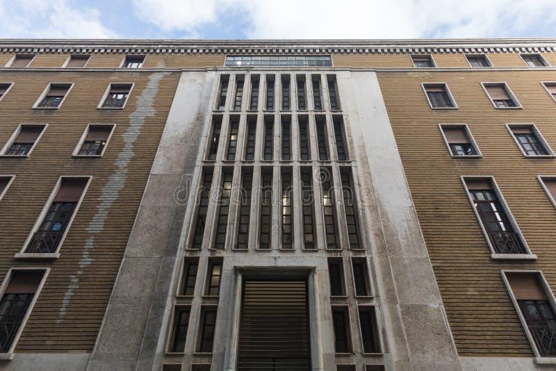 Perpective-Ansicht von 20 Jahrhundertarchitektur stockbild