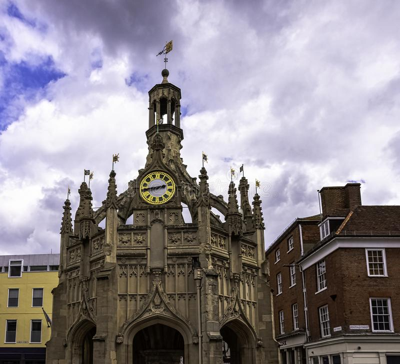 Perpendicular market cross in the centre of the city of Chichester, West Sussex, UK. Perpendicular market cross in the centre of the city of Chichester, West stock photos