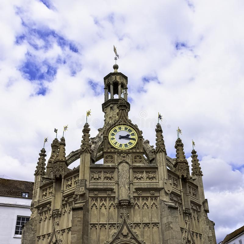 Perpendicular market cross in the centre of the city of Chichester, West Sussex, UK. Perpendicular market cross in the centre of the city of Chichester, West stock photography