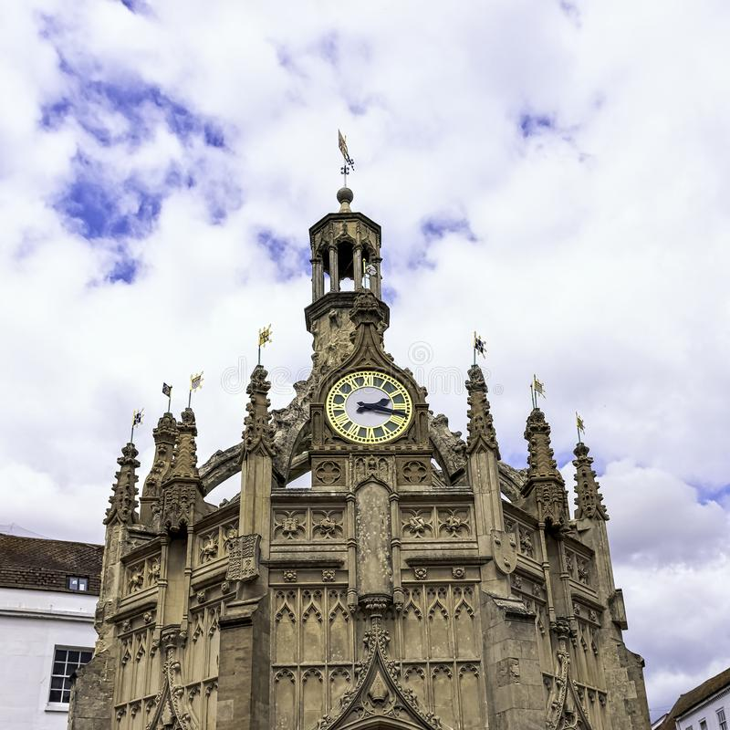 Perpendicular market cross in the centre of the city of Chichester, West Sussex, UK. Perpendicular market cross in the centre of the city of Chichester, West stock image