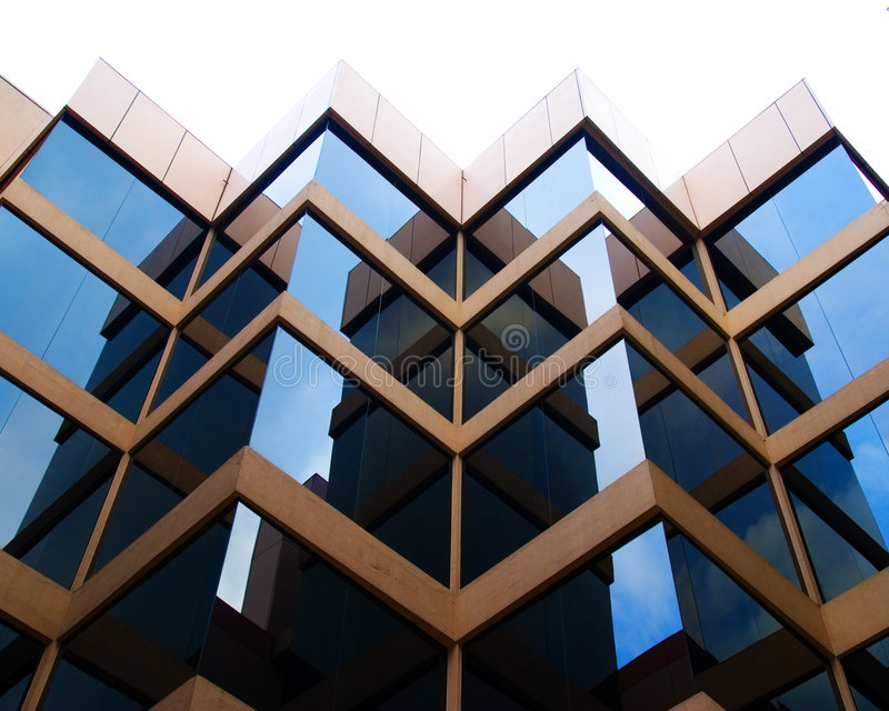 Perpendicular reflections stock images