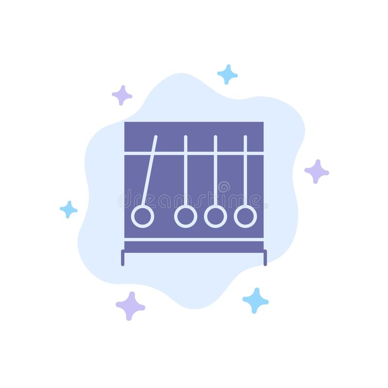 Perpetual, Motion, Medical, Medicine Blue Icon on Abstract Cloud Background royalty free illustration