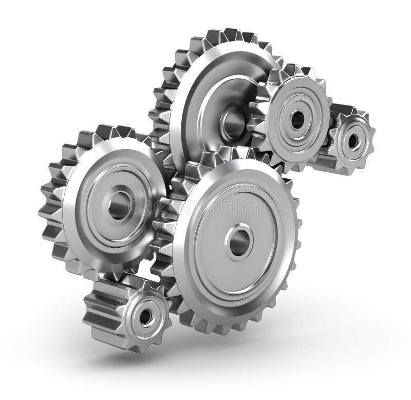 Perpetuum mobile : Gears. 3D render vector illustration