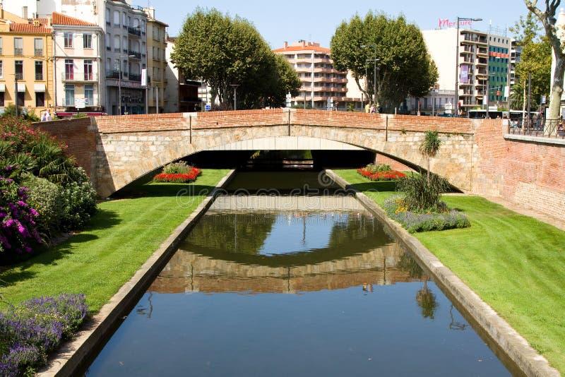 Perpignan, Frankrijk stock foto's