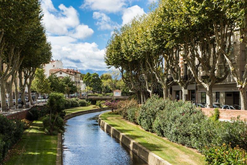 Perpignan rzeka obraz royalty free