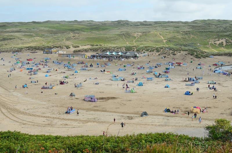 Perranporth strand, Cornwall arkivbilder