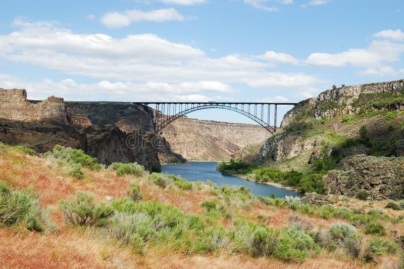 Perrine Bridge au-dessus de la rivière Snake photo stock