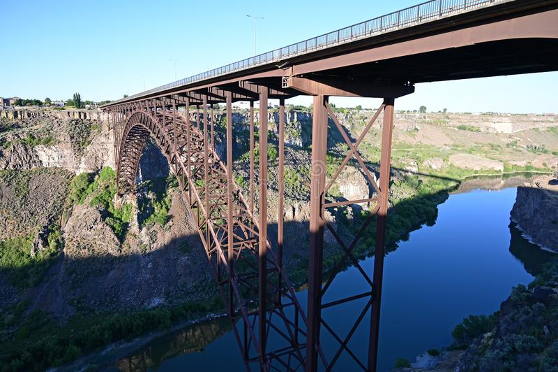 Perrine Bridge en Twin Falls, Idaho foto de archivo libre de regalías