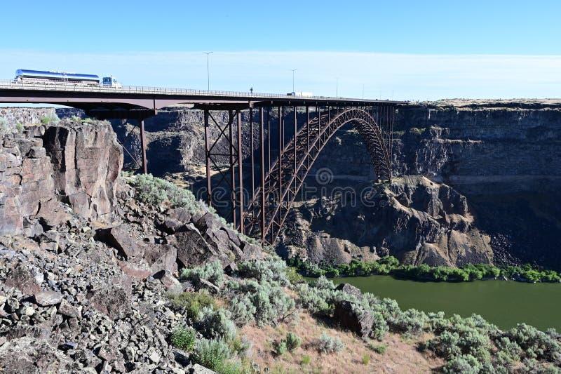 Perrine Bridge en Twin Falls, Idaho imagen de archivo libre de regalías