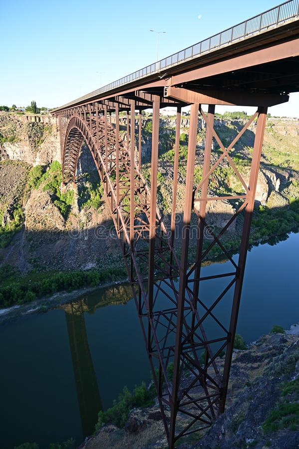 Perrine Bridge en Twin Falls, Idaho fotos de archivo libres de regalías