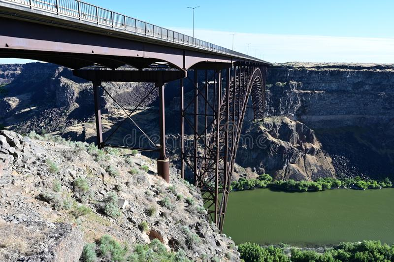 Perrine Bridge en Twin Falls, Idaho fotos de archivo
