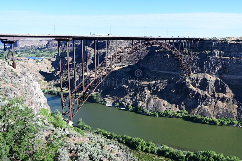 Perrine Bridge en Twin Falls, Idaho imagenes de archivo