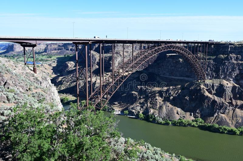 Perrine Bridge en Twin Falls, Idaho foto de archivo libre de regalías