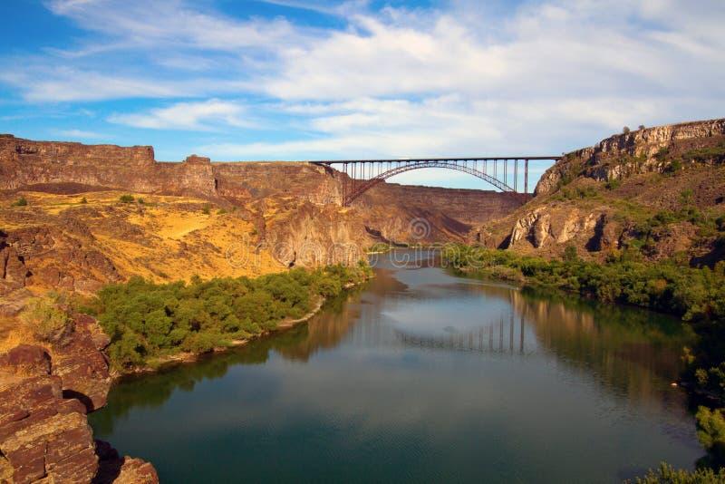 Perrine Bridge sopra il fiume Snake immagine stock libera da diritti