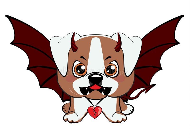 Perrito americano del dogo ilustración del vector