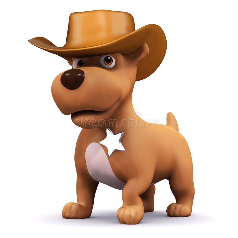 perrito del sheriff 3d libre illustration