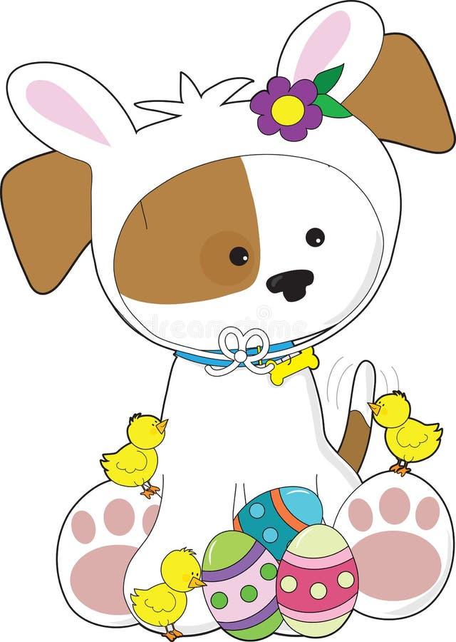 Perrito lindo Pascua stock de ilustración