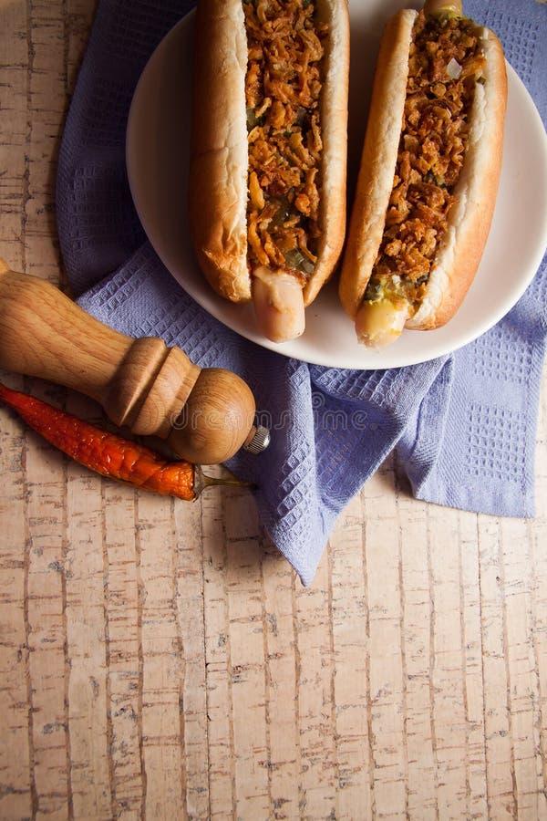 Download Perritos Calientes Deliciosos Foto de archivo - Imagen de frankfurter, americano: 64213338