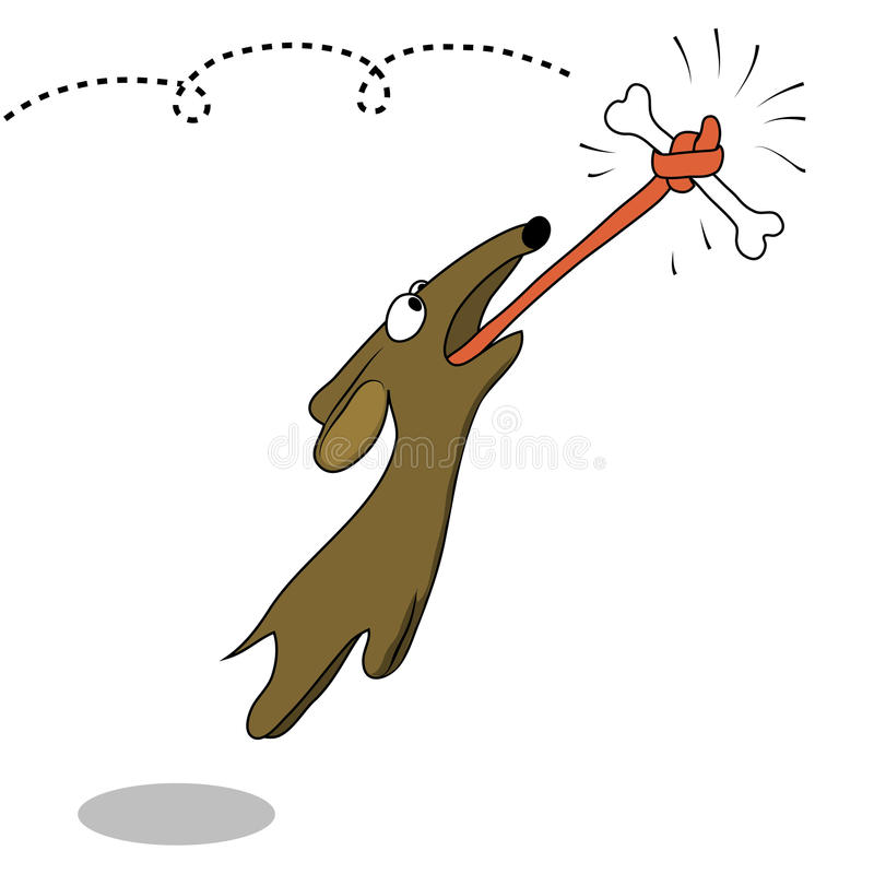 Perro ágil stock de ilustración