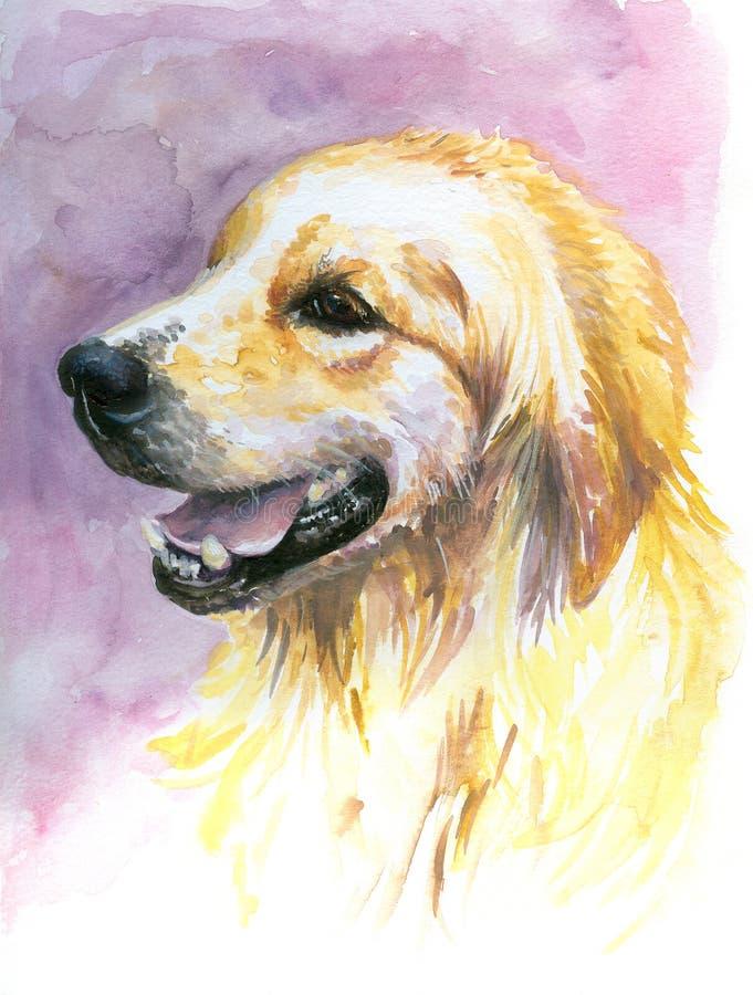 Perro amarillo stock de ilustración