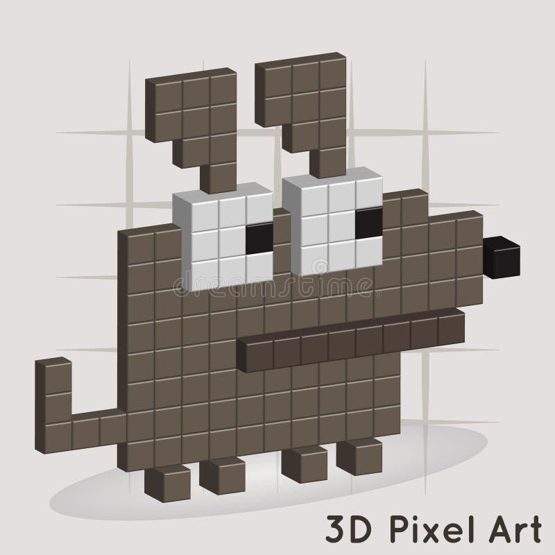 Perro. Arte del pixel. Vector stock de ilustración