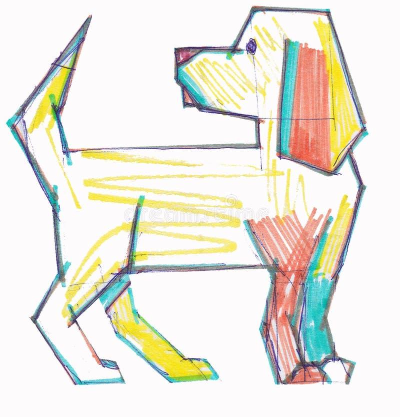 Perro coloreado foto de archivo libre de regalías