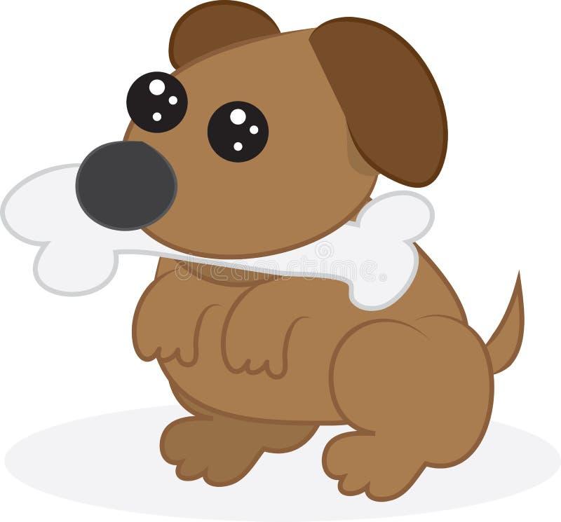 Perro con el hueso libre illustration