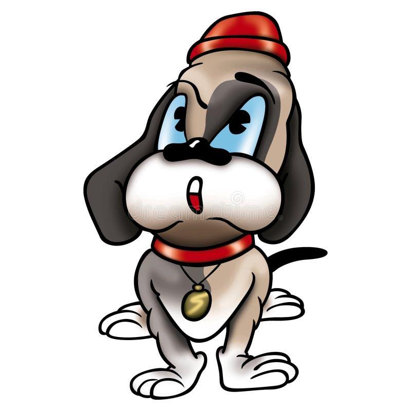 Perro con el sombrero ilustración del vector
