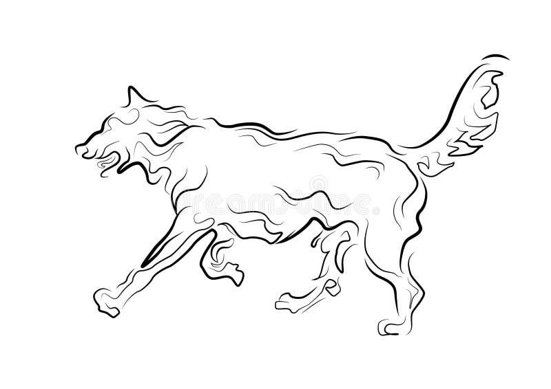 Perro corriente ilustración del vector