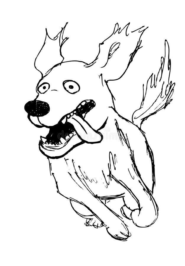 Perro corriente libre illustration