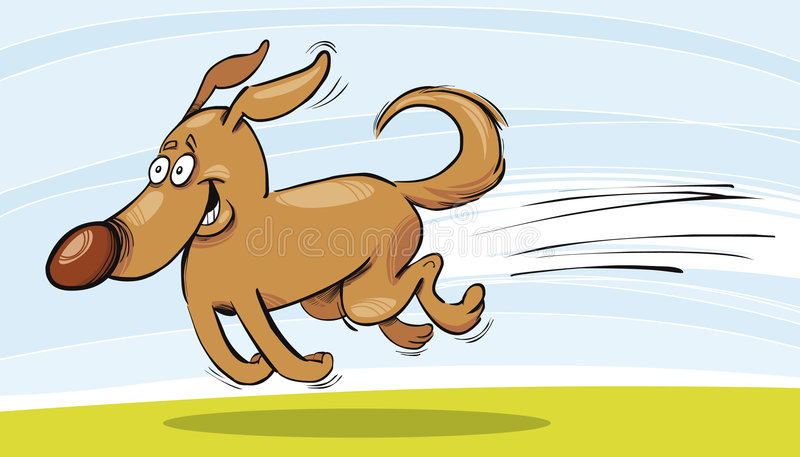 Perro corriente divertido libre illustration