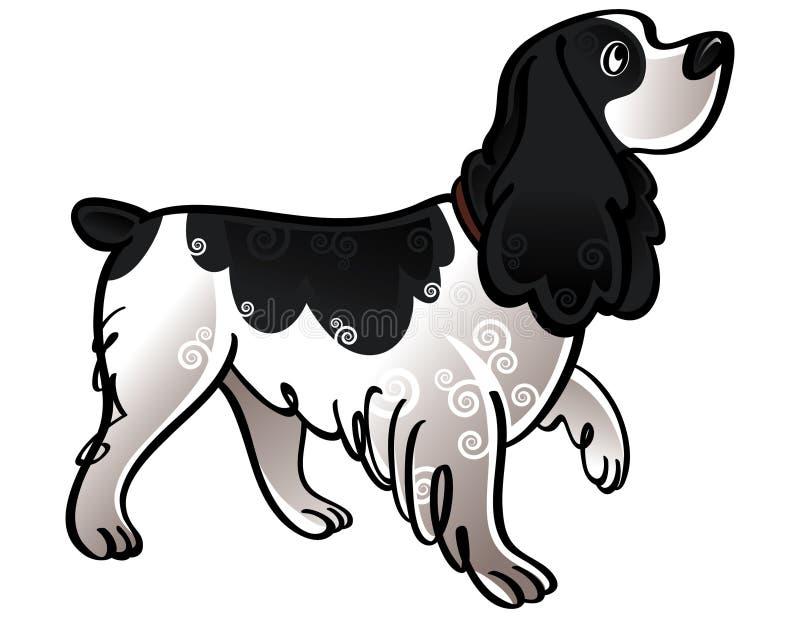 Perro de aguas de cocker ilustración del vector