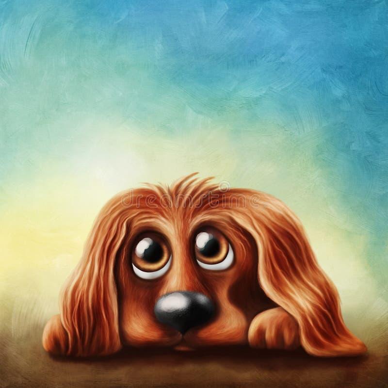 Perro de aguas de cocker inglés ilustración del vector