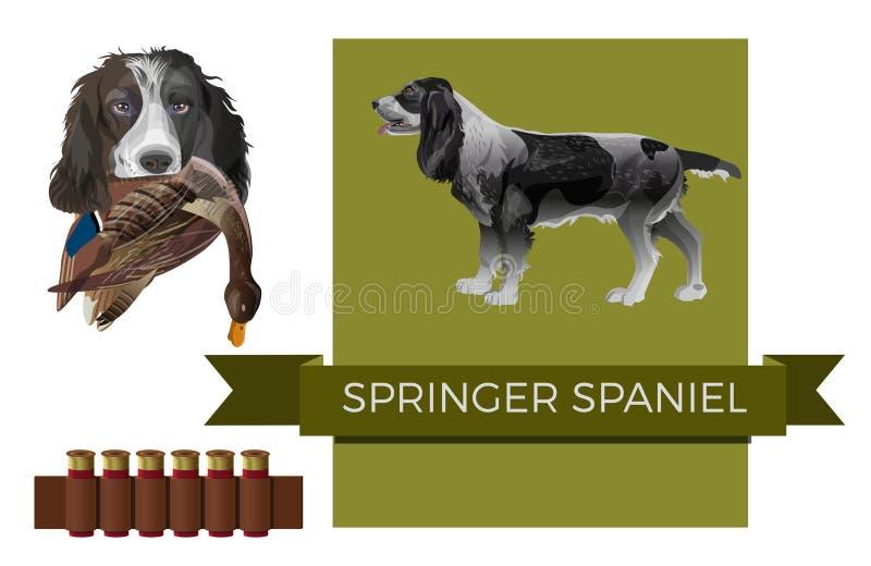 Perro de aguas de saltador inglés libre illustration