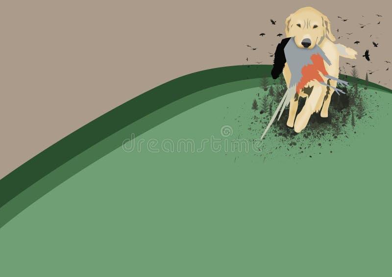Perro de caza libre illustration