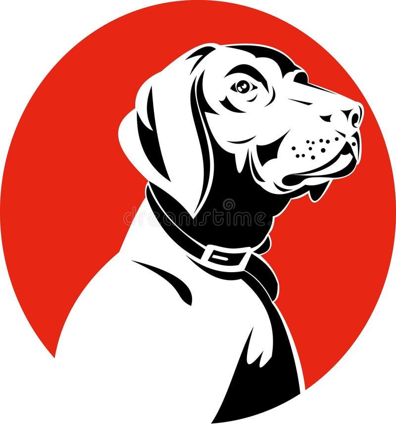 Perro de caza del puntero stock de ilustración