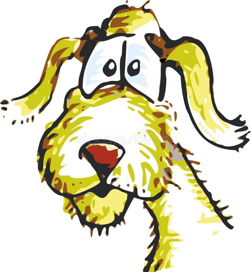 Perro de la calle ilustración del vector