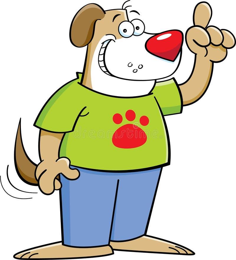Perro de la historieta con una idea ilustración del vector