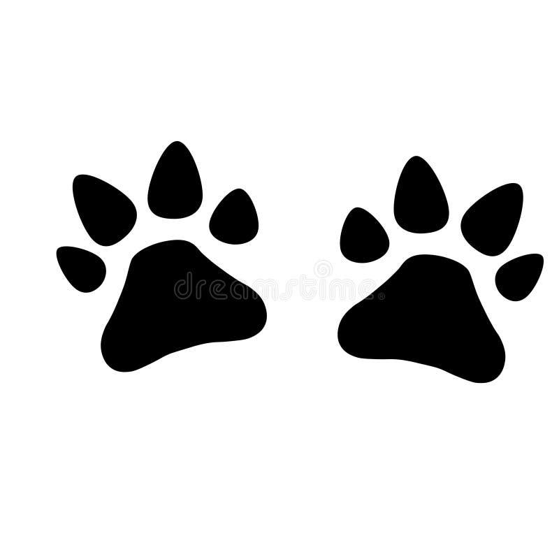 Perro de las patas - ejemplo del vector ilustración del vector
