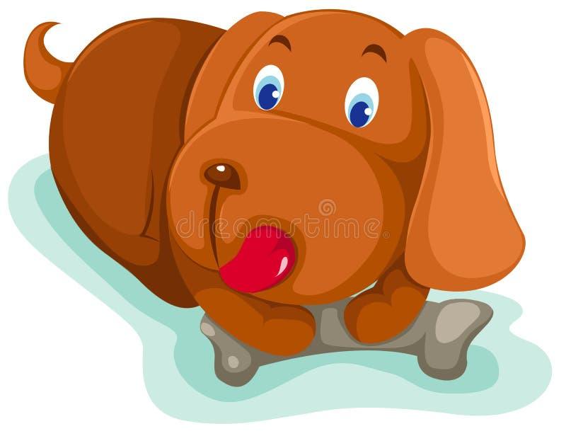 Perro de perrito stock de ilustración