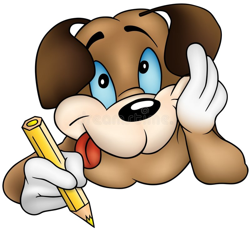 Perro de perrito de Brown ilustración del vector
