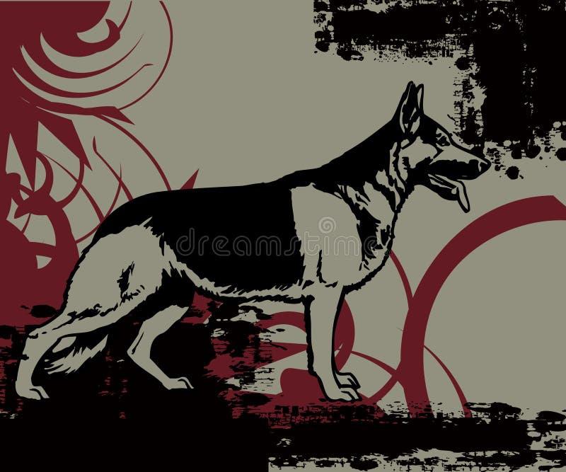 Perro de policía stock de ilustración