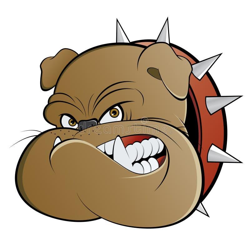 Perro de protector enojado ilustración del vector