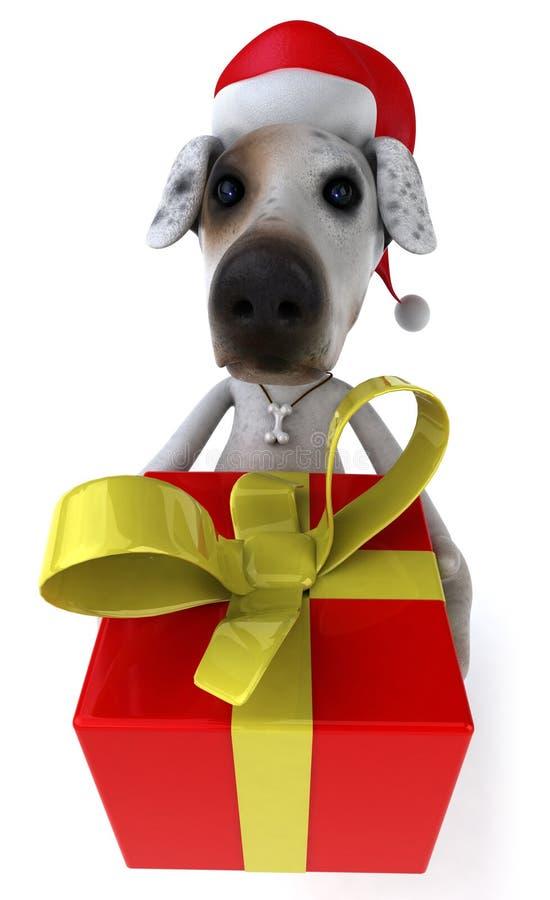 Download Perro de Santa stock de ilustración. Ilustración de blanco - 7282680