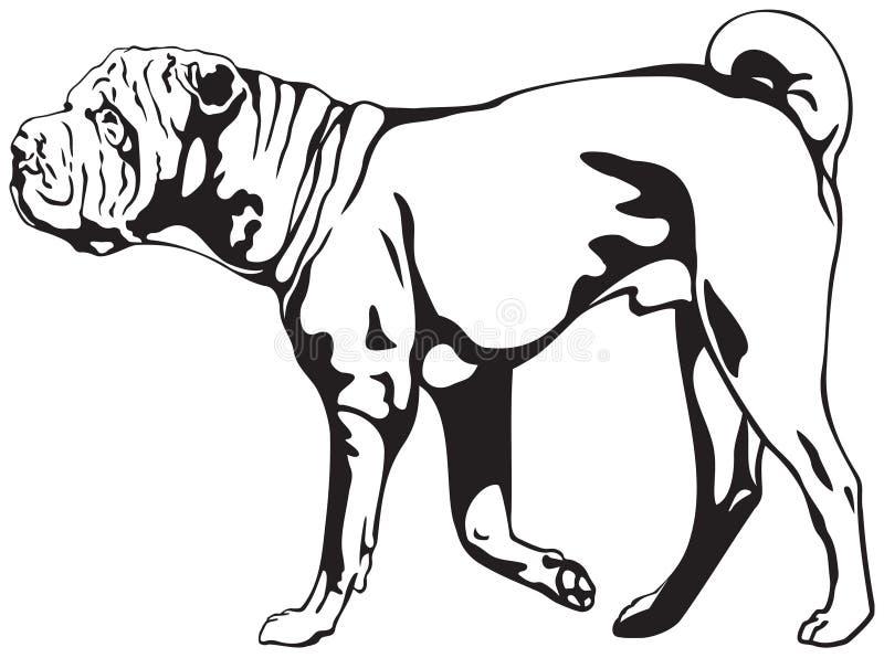 Perro de Shar Pei libre illustration