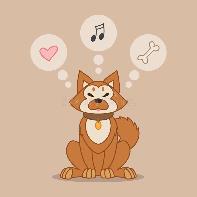 Perro de Shiba Inu ilustración del vector