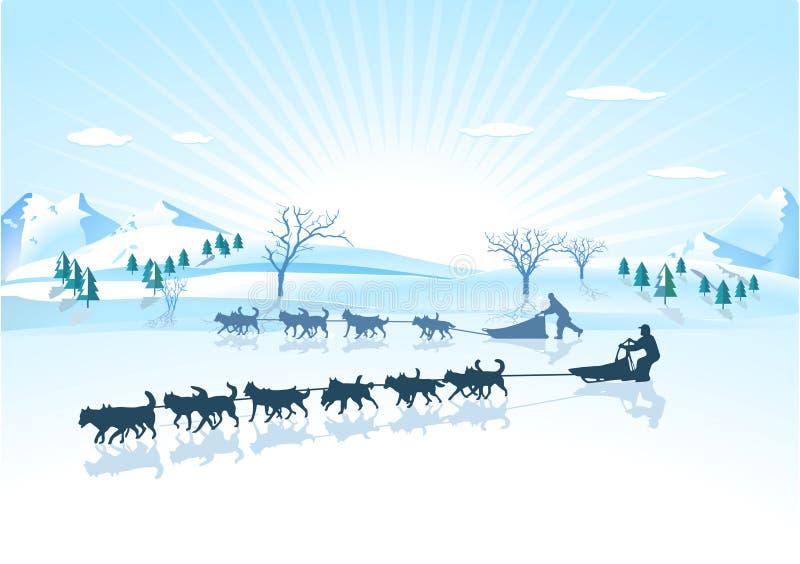 Perro de trineo de los perros esquimales ilustración del vector